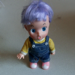 Bandai unknown anime looking girl doll figure purple hair